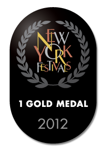 New York Festivals 1 gold medal 2012
